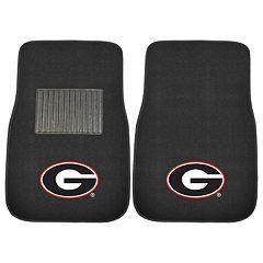 FANMATS Georgia Bulldogs 2 pc Car Floor Mat Set