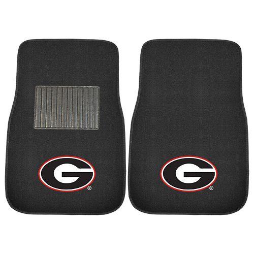 FANMATS Georgia Bulldogs 2-Piece Car Floor Mat Set