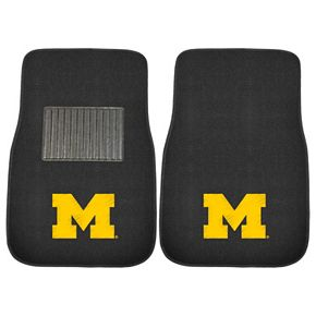 FANMATS Michigan Wolverines 2-Piece Car Floor Mat Set