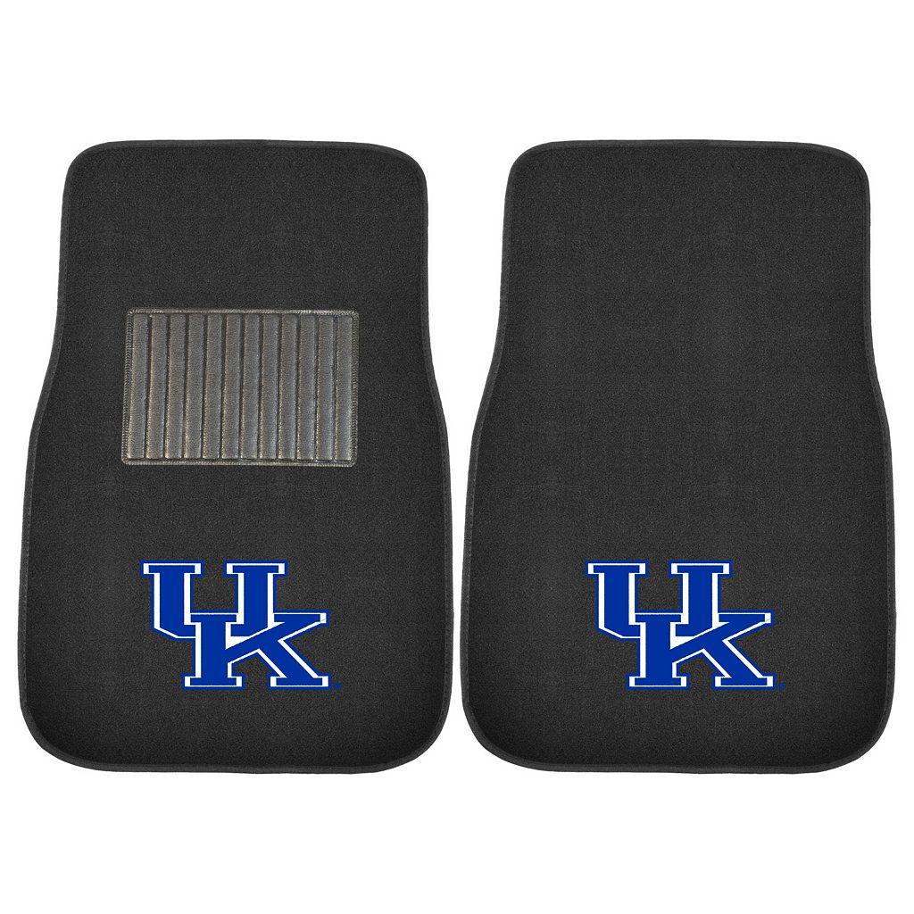 FANMATS Kentucky Wildcats 2-Piece Car Floor Mat Set