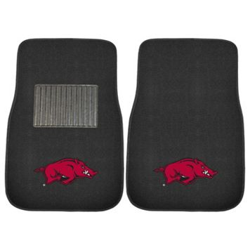 FANMATS Arkansas Razorbacks 2-Piece Car Floor Mat Set