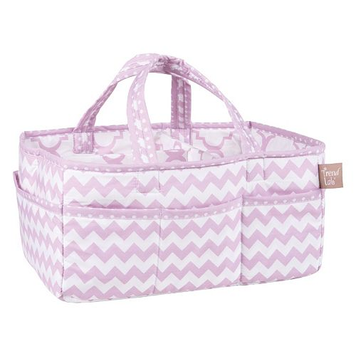 Trend Lab Orchid Bloom Chevron Storage Caddy