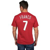 Men's Majestic Philadelphia Phillies Maikel Franco Player Name and Number Tee