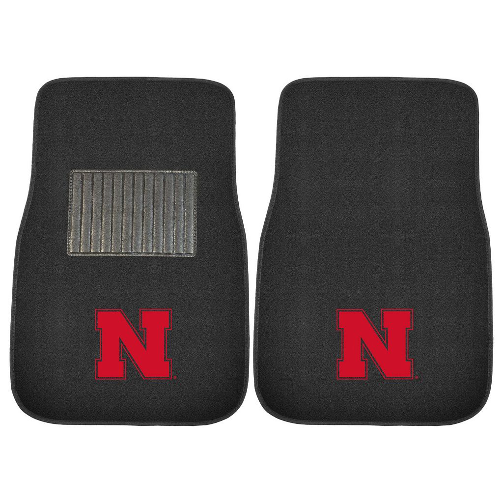FANMATS Nebraska Cornhuskers 2-Piece Car Floor Mat Set