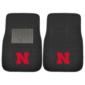 FANMATS Nebraska Cornhuskers 2-Piece Car Floor Mat Set