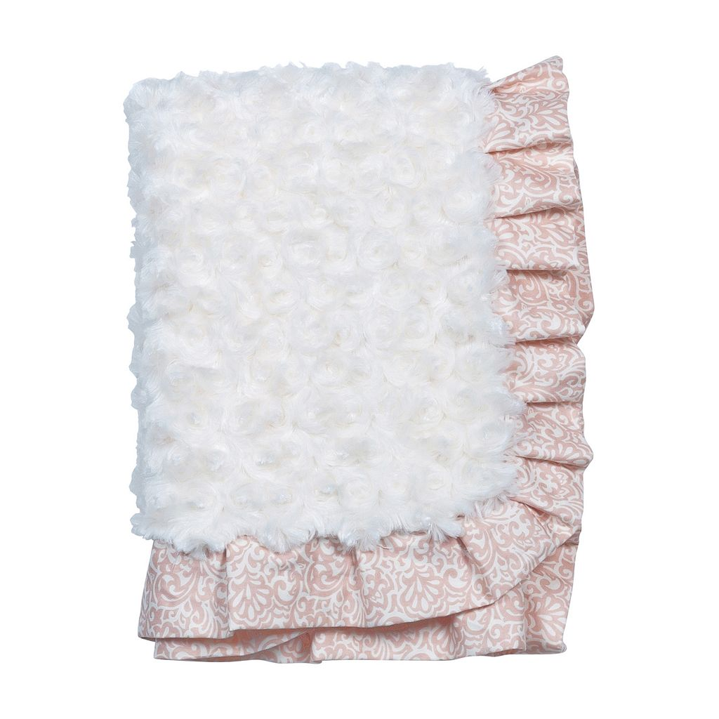 Waverly Baby by Trend Lab Rosewater Glam Velour Baby Blanket by Trend Lab