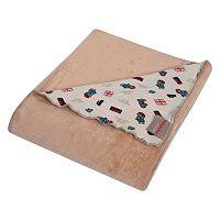 Paddington Bear Reversible Knit Velvet Baby Blanket by Trend Lab
