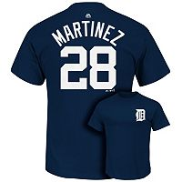 Men's Majestic Detroit Tigers JD Martinez Player Name and Number Tee