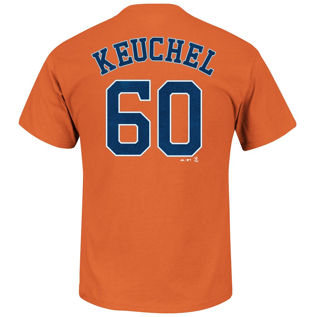 Men's Majestic Houston Astros Dallas Keuchel Player Name and Number Tee