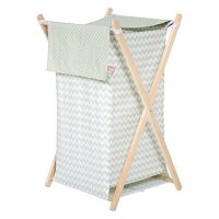 Trend Lab Sea Foam Chevron Hamper