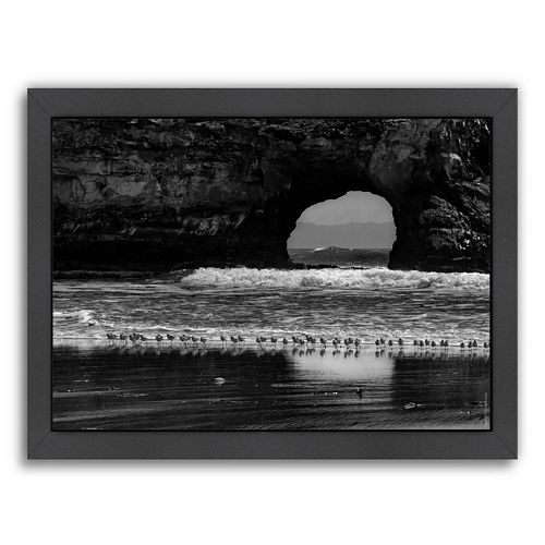 """Americanflat """"Seabirds and Sea Arch"""" Framed Wall Art"""