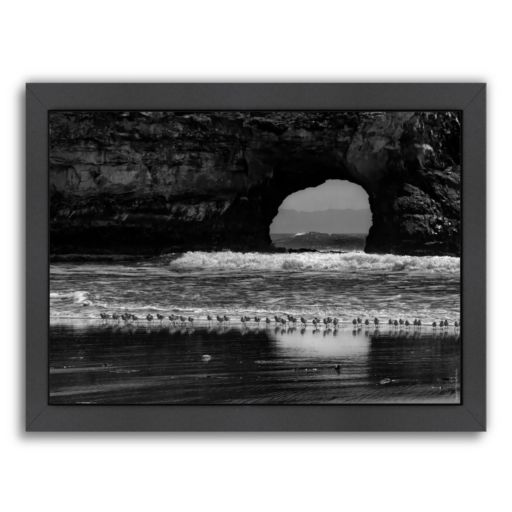 "Americanflat ""Seabirds and Sea Arch"" Framed Wall Art"