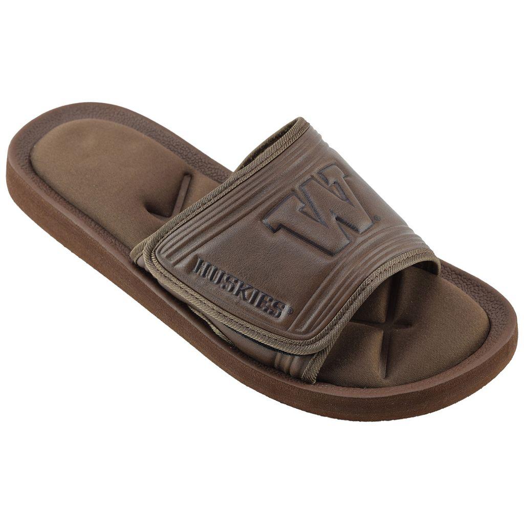 Men's Washington Huskies Memory Foam Slide Sandals