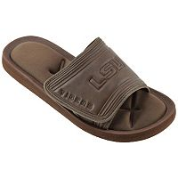 Men's LSU Tigers Memory Foam Slide Sandals