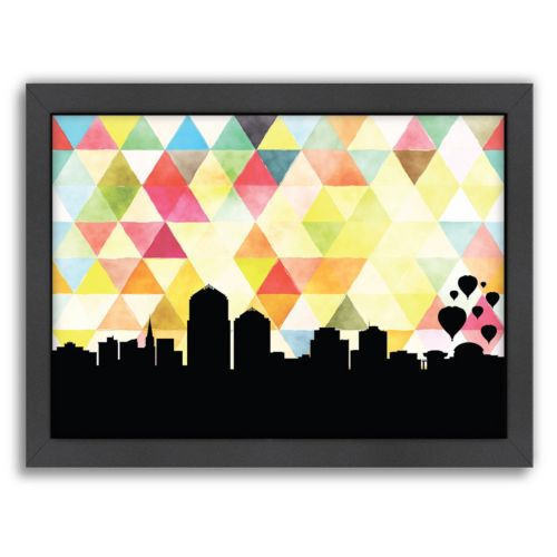 "Americanflat ""Albuquerque Triangle"" by PaperFinch Framed Wall Art"