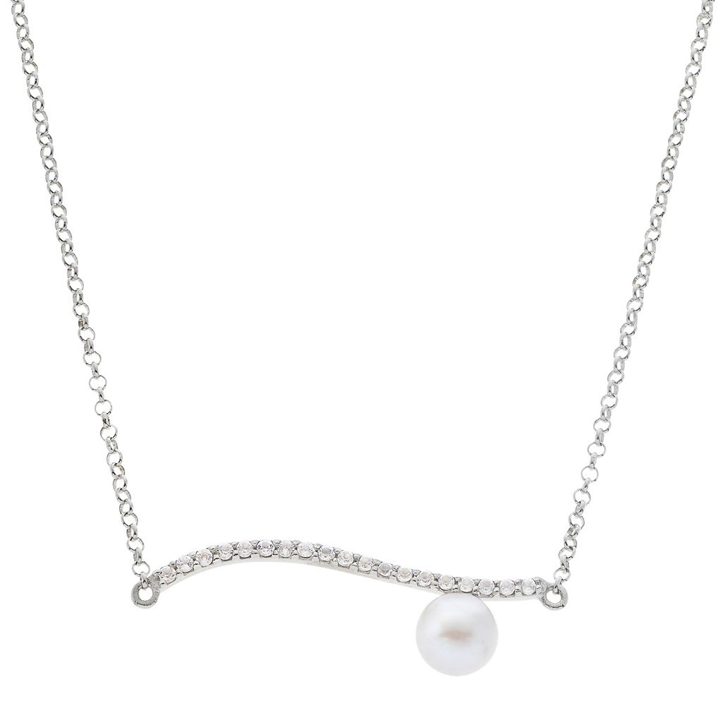 PearLustre by Imperial Freshwater Cultured Pearl Bar Necklace