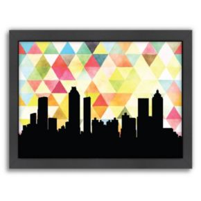 """Americanflat """"Atlanta Triangle"""" by PaperFinch Framed Wall Art"""