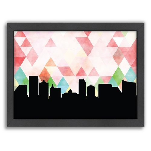 "Americanflat ""Atlantic City Triangle"" by PaperFinch Framed Wall Art"