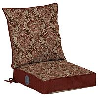 Bombay® Outdoors Venice Damask Adjustable Reversible Chair Cushion 2-piece Set