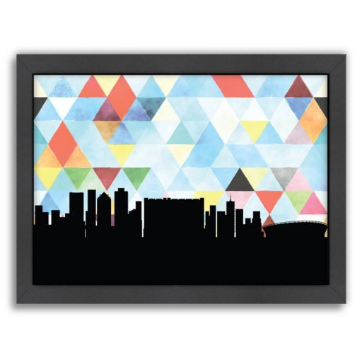 """Americanflat """"Cape Town Triangle"""" by PaperFinch Framed Wall Art"""
