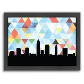 """Americanflat """"Cleveland Triangle"""" by PaperFinch Framed Wall Art"""