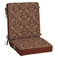 Bombay® Outdoors Venice Damask Adjustable Comfort Reversible Chair Cushion