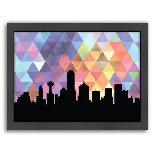 """Americanflat """"Dallas Triangle"""" by PaperFinch Framed Wall Art"""