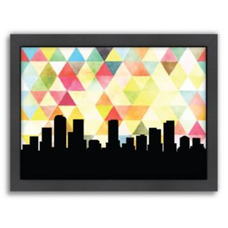 """Americanflat """"Denver Triangle"""" by PaperFinch Framed Wall Art"""