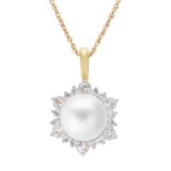 PearLustre by Imperial 14k Gold Over Silver Freshwater Cultured Pearl Pendant