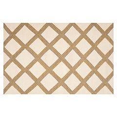 Safavieh Dhurries Diamond Stripe Handwoven Flatweave Wool Rug