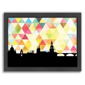 """Americanflat """"Dresden Triangle"""" by PaperFinch Framed Wall Art"""