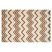 Safavieh Dhurries Dark Chevron Handwoven Flatweave Wool Rug