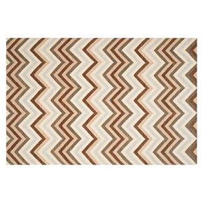 Safavieh Dhurries Dark Chevron Handwoven Flatweave Wool Rug