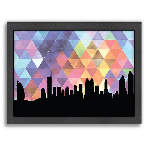 "Americanflat ""Dubai Triangle"" by PaperFinch Framed Wall Art"