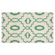 Safavieh Dhurries Jagged Circle Handwoven Flatweave Wool Rug