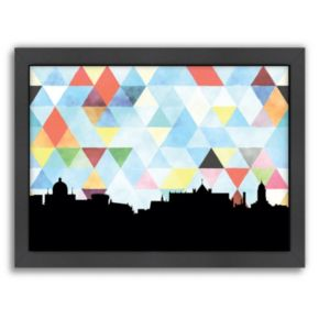 """Americanflat """"Dublin Triangle"""" by PaperFinch Framed Wall Art"""
