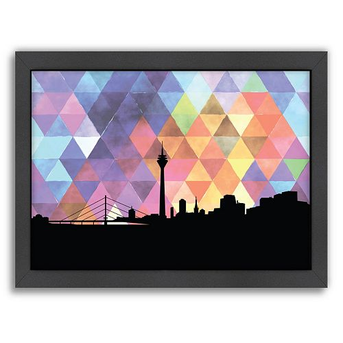 """Americanflat """"Dusseldorf Triangle"""" by PaperFinch Framed Wall Art"""