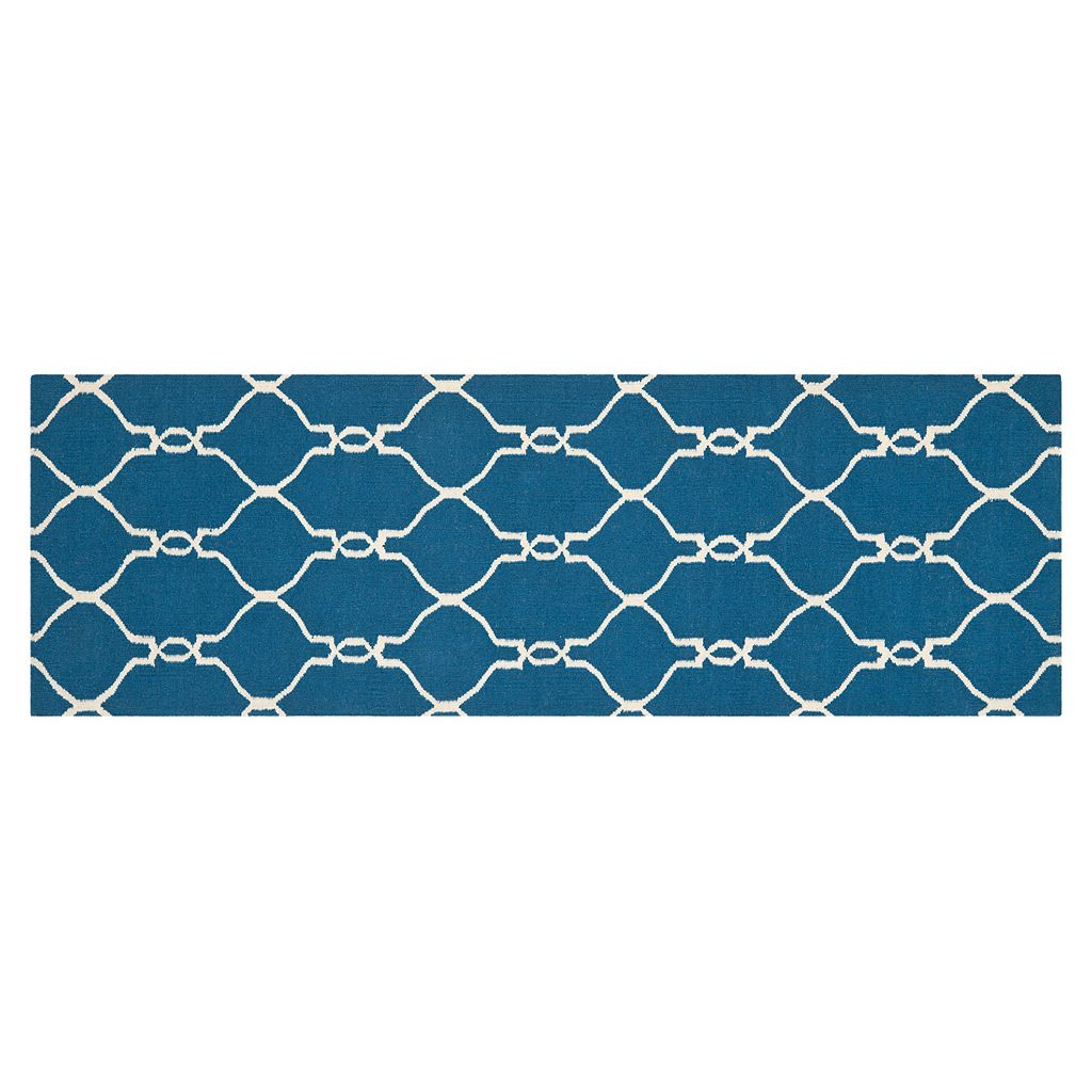 Safavieh Dhurries Interlaced Handwoven Flatweave Wool Rug