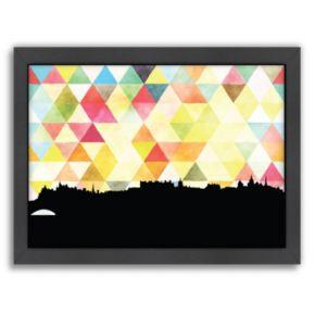 "Americanflat ""Edinburgh Triangle"" by PaperFinch Framed Wall Art"