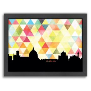 """Americanflat """"Florence Triangle"""" by PaperFinch Framed Wall Art"""