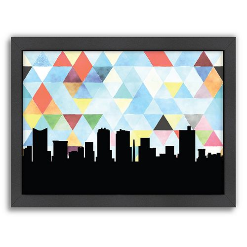 "Americanflat ""Fort Worth Triangle"" by PaperFinch Framed Wall Art"