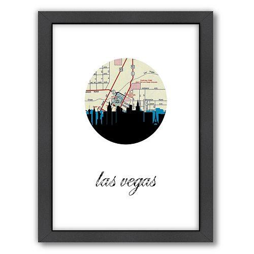 Americanflat PaperFinch Las Vegas Framed Wall Art