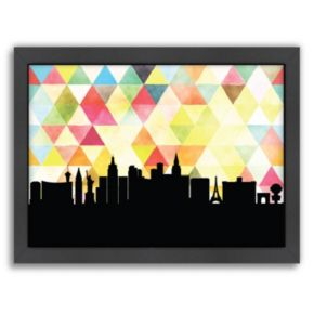 Americanflat PaperFinch Las Vegas Skyline Framed Wall Art