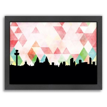 Americanflat PaperFinch Liverpool Skyline Framed Wall Art