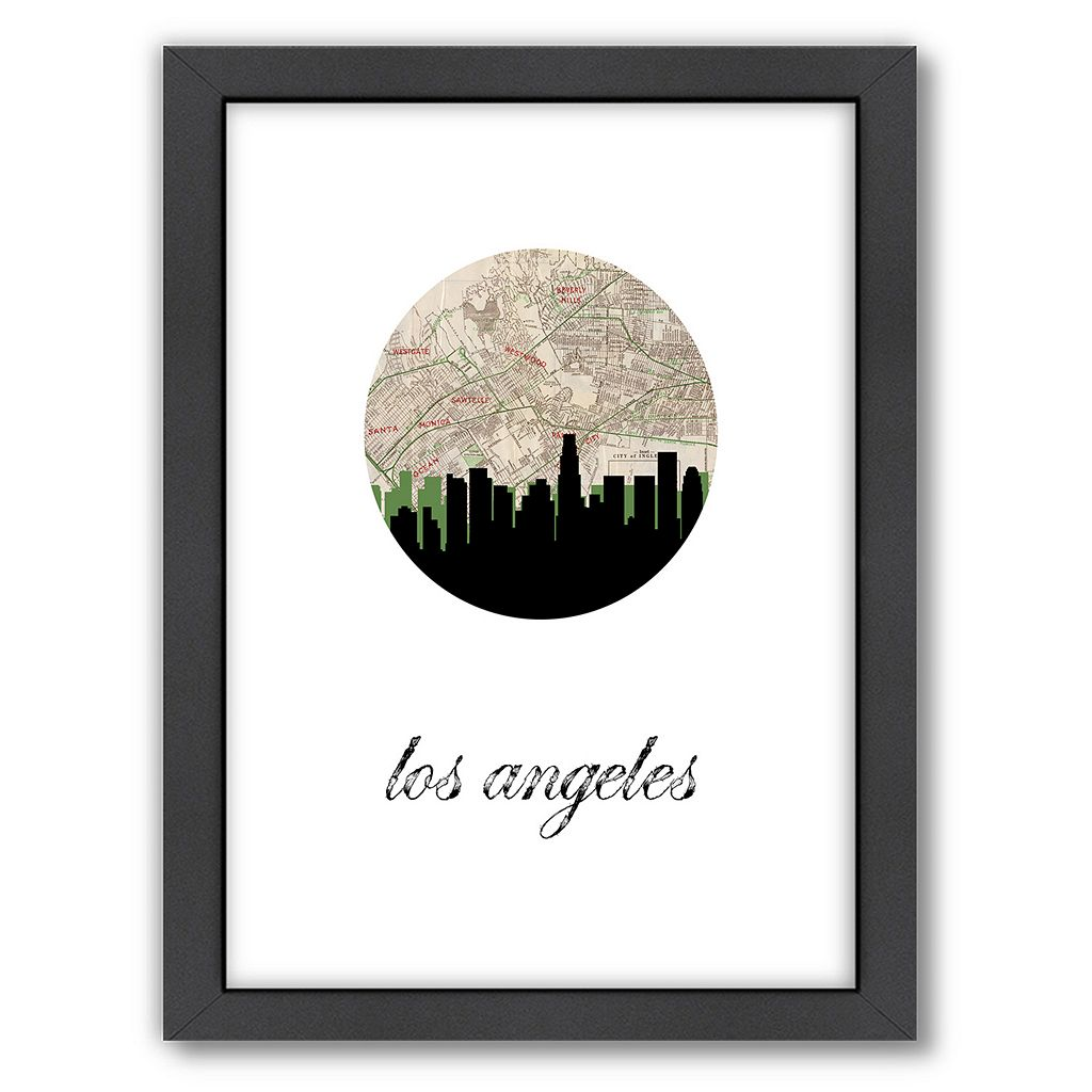 Americanflat PaperFinch Los Angeles Framed Wall Art