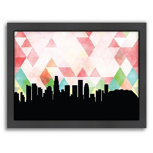 Americanflat PaperFinch Los Angeles Skyline Framed Wall Art