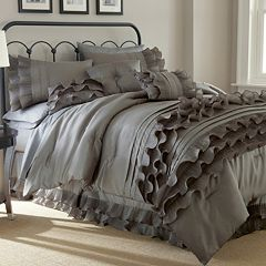 Anastacia Platinum 8-piece Ruffled Bed Set