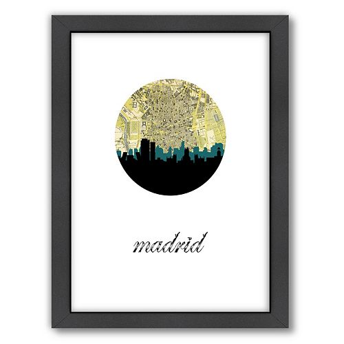 Americanflat PaperFinch Madrid Framed Wall Art