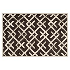 Safavieh Dhurries Broken Lattice Handwoven Flatweave Wool Rug