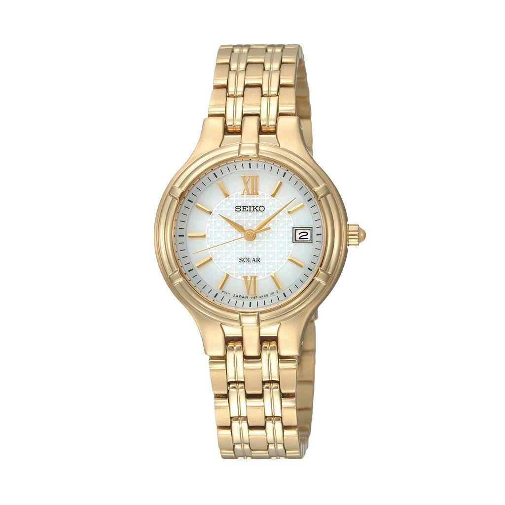 Seiko Women's Core Stainless Steel Solar Watch - SUT220